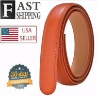 "Big n Tall 1.38"" Belt Orange Strap for Automatic Ratchet Buckles Belt STRAP ONLY"