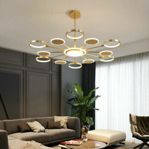 Large Dimmable Chandelier Lighting Bar LED Pendant Lamp Kitchen Ceiling Light