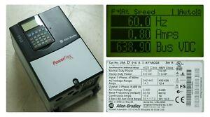 Low Hours Allen-Bradley PowerFlex 70 10HP 20AD014A3AYYACG0 480VAC Tested Good
