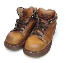 Dr Martens Size 6 UK 8 US Womens Brown Leather Lace Up Ankle Boots England 8542