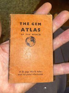 Vintage THe Gem Atlas Of The World Pocket Atlas