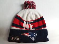 New England Patriots New Era Knit Hat Retro Cuff Pom Beanie Stocking Cap NFL