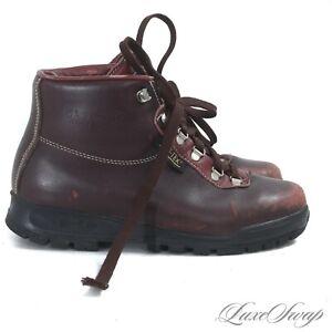 Vasque Made in Italy GoreTex SkyWalk Burgundy Leather Speedhook Mountain Boots 9