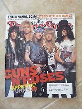 Guns Roses Duff & Steven Signed Rolling Stone Magazine Cover Photo PSA Guarantee