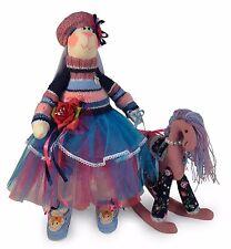 "NEW Handmade Collectible Tilda Bunny ""Girl rabbit with horse"", OOAK dolls ~ 18"""