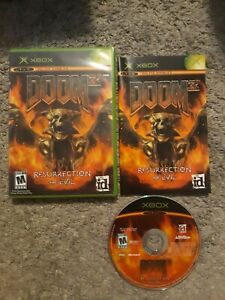 Doom 3 Resurrection of Evil Microsoft Xbox 2005 CIB Complete Tested Working