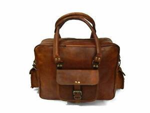 "18"" Genuine  Leather Travel Duffle Wild Duffel Vintage Bag"