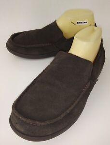 Crocs Mens Loafers 14756 US 10 Brown Suede Moc Toe Shoes Slippers Croslite 430