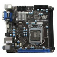 GENUINE MSI-H61-E35 V2/W8 Motherboard MINIITX LGA1155 IO SHIELD I3 3RD + 4GB RAM