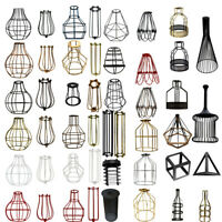 Modern Retro Wire Frame Ceiling Pendant Light Shades Easy Fit Lighting Lampshade