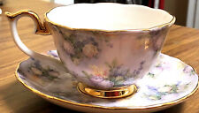 Bradford Editions Lena Liu Signed Treasured Hydrangea Cup & Saucer Set Ec