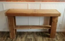 Rustic Console Sofa Table Wood Farmhouse Entry Shelf Display Living Rm Country