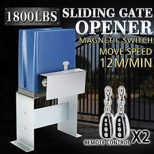 800KG ELECTRIC SLIDING GATE OPENER KIT FOR SLIDING GATE DOOR DRIVEWAY MOTOR