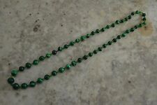 VINTAGE malachite graduated bead necklace strand green 25""