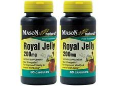 ( PACK OF 2 ) 60 CAPSULES ROYAL JELLY 200 MG Improved Vitality Anti Aging