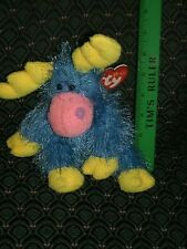 """Ty 6"""" ~ Punkies ~ MARBLES ~ Blue/Yellow/Pink MOOSE ~ RARE ~ HTF ~ MWMT ~ 2003"""