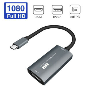 4K HD HDMI to Type-C USB-C Audio Video Capture Card Recorder for Live Streaming