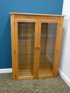 Vintage Ercol Display Cabinet, Blonde Mural dresser top glass shelves. Northants