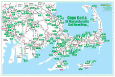 Golf Road Map - Cape Cod, Mass Map - Golf Travel Map - Golf Assessory