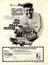 1970 DODGE CHARGER FUNNY CAR / KEITH BLACK HEMI  ~  ORIGINAL FRAM FILTER AD