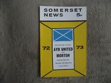 1972-73 (Sep) Ayr United v Morton  -  Scottish Division One