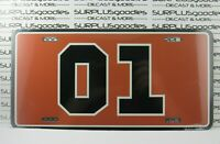"""DUKES of HAZZARD GENERAL LEE 01 6"""" X 12"""" License Plate Tag Metal BRAND NEW"""