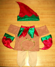 """16-18"""" CPK Cabbage Patch Kids CHRISTMAS ELF OUTFIT W/ BELLS TUNIC TIGHTS TIES"""