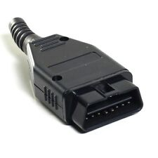 OBDII OBD2  16 PIN CONNECTOR PLUG  MALE SOLDERABLE DIAGNOSTIC PLUG ~ UK 1stClass