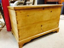 Waxed Solid Pine Blanket Box, Toy Storage Box, Ottoman in Antique finish