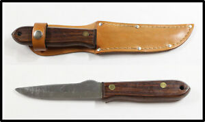 Vintage R. Murphy AYER MASS Made In USA Sportsman hunting knife w sheath LOOK