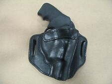 Kimber K6S 6 Shot Revolver Leather 2 Slot Molded Pancake Belt Holster CCW BLK RH