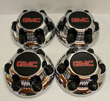 "4x Chrome GMC Sierra Yukon Savana 6 Lugs 1500 Wheel Center Hub Caps 16"" 17"""
