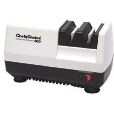Electric Hone Knife Sharpener Diamond 2 Stage Professional Chefs Choice White