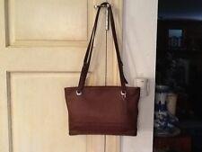 Authentic Coach Brown Leather Satchel Shoulder Bag Adj Dbl Strap D8P-4243