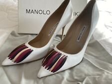 White Manolo Blahnik Rouer 2020 Shoes 41 Or 8 UK
