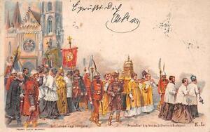 RELIGION MILITARY HUNGARY H & G #19 POSTAL CARD POSTCARD 1899