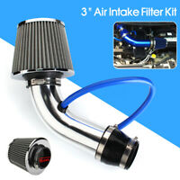 3'' Aluminum Silver Car Cold Air Intake Filter Induction Kit Pipe Hose   +