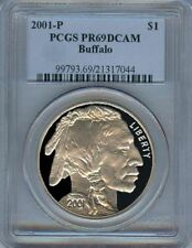 2001-P PCGS CERTIFIED BUFFALO COMMEMORATIVE DOLLAR PCGS PR-69 DCAM