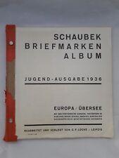 Schaubek Briefmarken Album Europe Asia Afrika Amerika ~2090 Stamps From 1849 -..