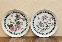 Takahashi Botanical Decorative Plates Set Of 2 Dessert Flowers Butterfly Insects