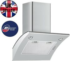 Cookology ARCH600SS 60cm Extractor Fan | Angled Stainless Steel Cooker Hood
