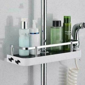 Bathroom Pole Shelf Storage Caddy Rack Organiser Tray W5X4 Holder N7H7 B2P7