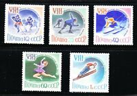 Russia 1960 MNH Sc 2300-2304 Winter Olympic Games Squaw Valley Mi 2317-2321 **