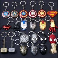 Llaveros metal personajes superhéroes Accesorios Máscaras Juguetes regalo niños