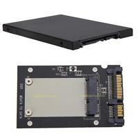 8mm mSATA SSD auf/zu 2.5'' SATA Adapter Converter Karte Abdeckung mit Etui