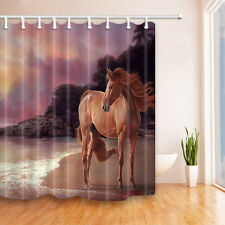 Horse on the beach Waterproof Polyester-Fabric Shower Curtain & 12hooks 72*72in