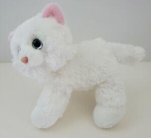 Aurora Pretty White Kitty Cat Plush Persian Blue Eyes Kitten Stuffed Animal Toy