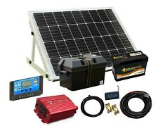 80/500w Mono Solar Panel Electricity Generator Kit, Controller Battery Inverter