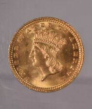 1883 Type 3 Gold Dollar Choice Brilliant Uncirculated Full Mint Bloom Luster