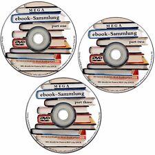 3 DVD's mit 11,5 GB ebooks MEGASAMMLUNG ebook Sammlung für PC Reader etc. NEU